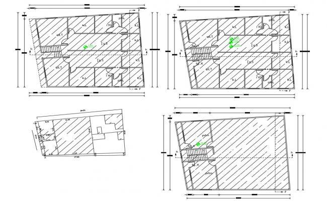 3 BHK Apartment Floor Plan With Site Survey Design