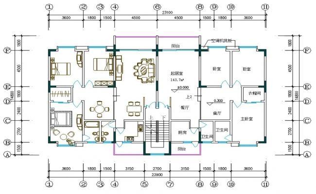 3 BHK Bungalow Layout Plan DWG File