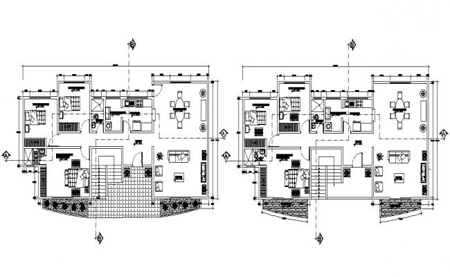 3 BHK Fully Furnished Apartment Design Plan