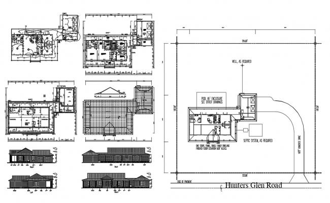 3 BHK House Plan DWG File