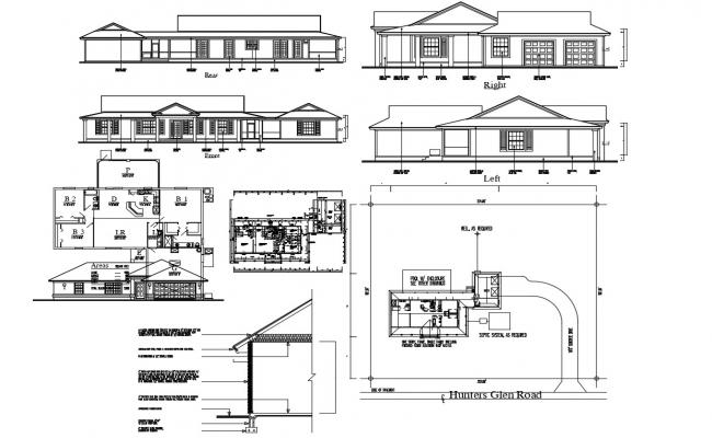 3 BHK House Project AutoCAD Drawing