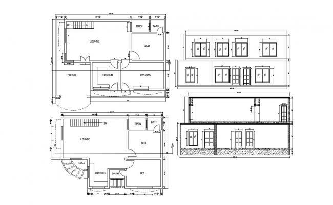 3 Bedroom House Plan DWG File