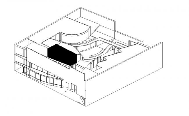 3 D commercial building elevation plan detail dwg file