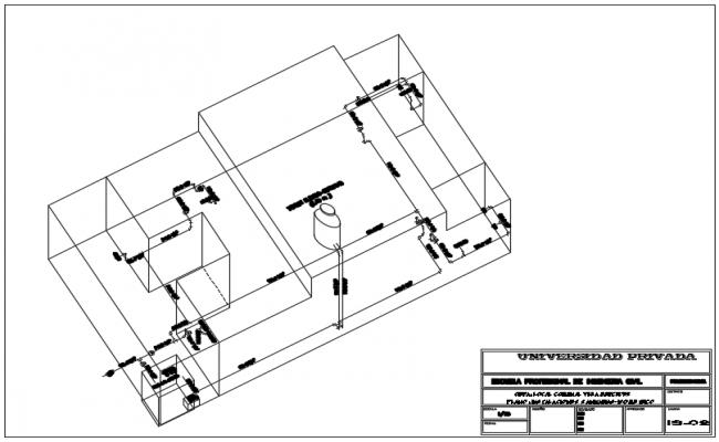 3 D elevation plan detail dwg file