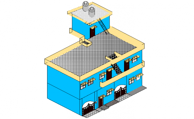 3 D house layout dwg file