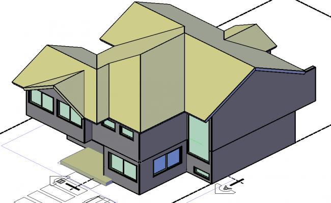 3 D house plan detail