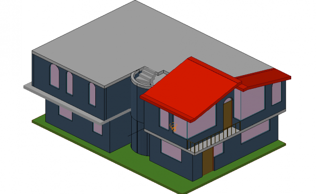 3 D house plan detail