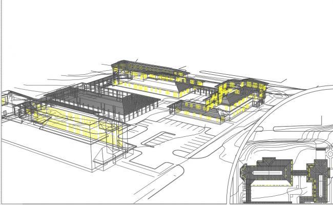 3 D plan view detail dwg file
