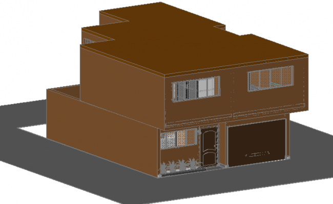 3 D planning house detail dwg file