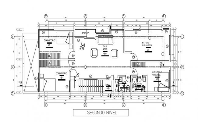 3 Room House Plan In AutoCAD File