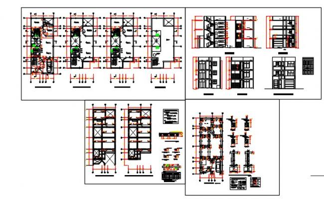 3-Story multifamily housing drawing file