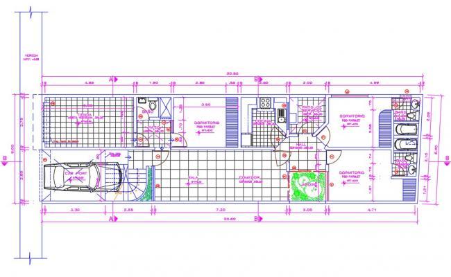 3 bhk House Plan Drawings