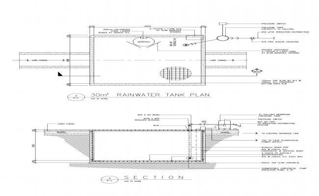 3 cubic meter water tank plan