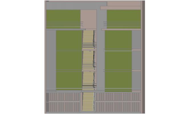 3 d apartment building plan detail dwg file
