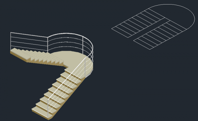 3 d double staircase