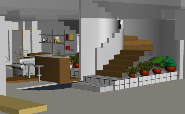 3 d house interiors plan detail dwg file