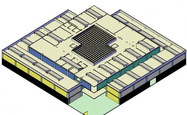 3d Industrial Building Plan In DWG File