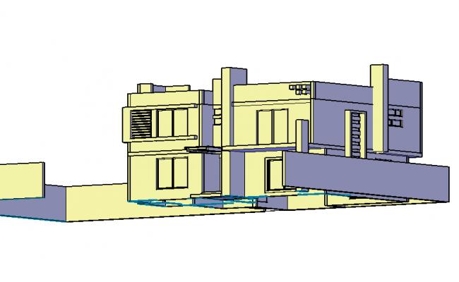 3 d room house plan detail