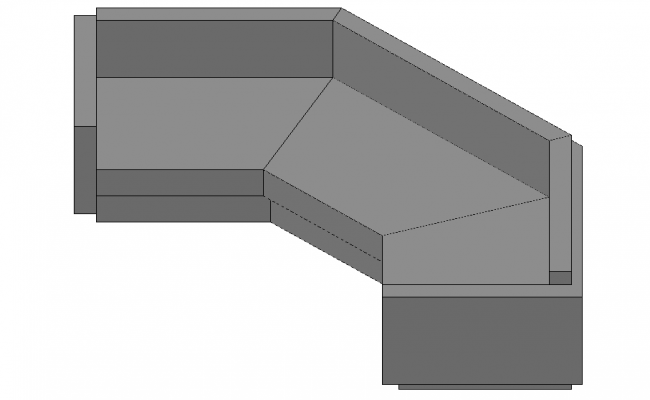 Sofa 3d Design In DWG File