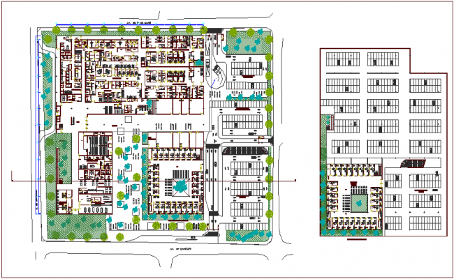 300 bed hospital floor plan dwg file
