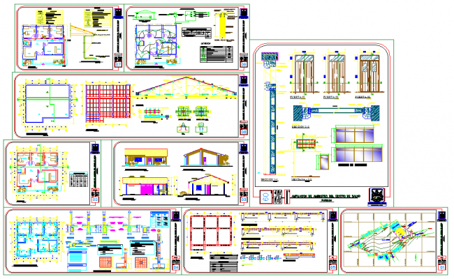 House all type Lay-out plan