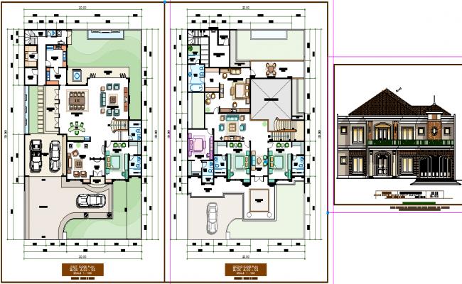 Luxurious Bungalow Plan