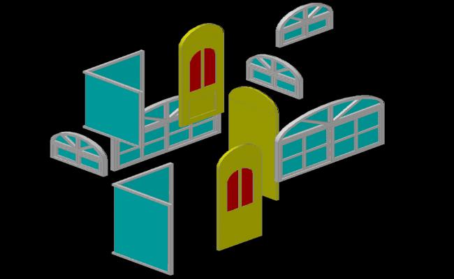 3d Door and Window
