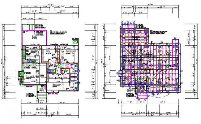 30 FT x 36 FT House Layout Plan