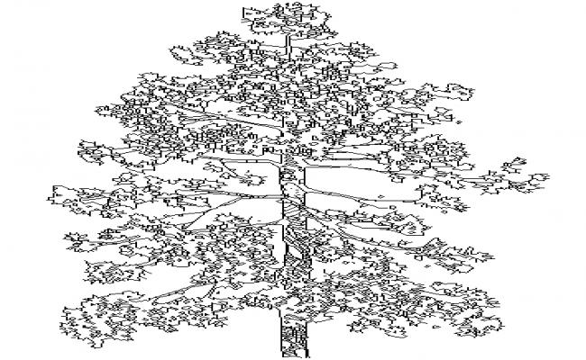 Tree Block DWG file