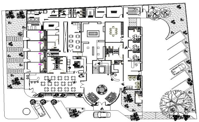 4 star hotel plan for Hotel layout design
