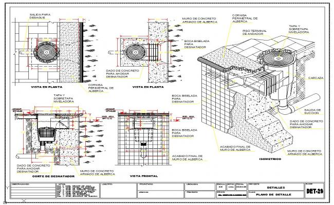 Section detail & Isometric detail