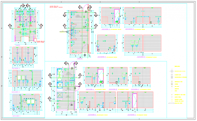 Bathrooms for patients plan detail DWG