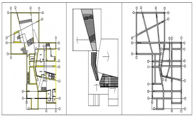 Plan of foundation and roof structure plan