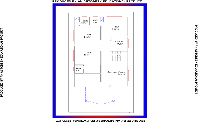 Amazing 3BHK Residential House Plan View Design In Pdf