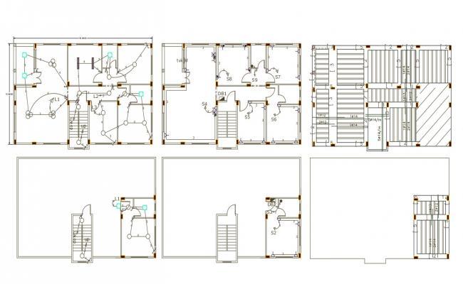 3 BHK House Electrical Layout Plan Slab Bar Design