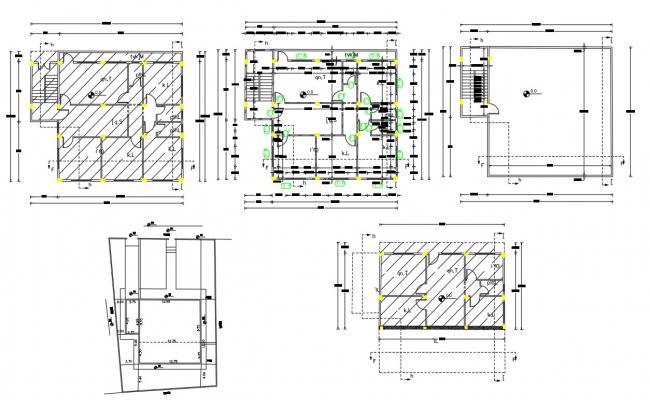 3 Bedroom House Construction Plan Design DWG