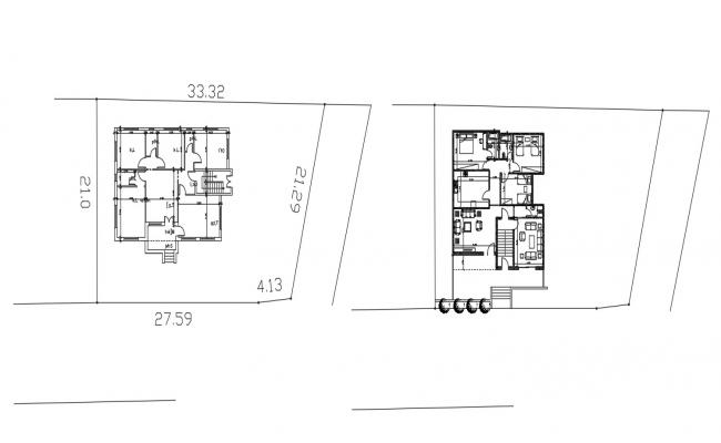 3 Bedroom House Plan With Furniture Design