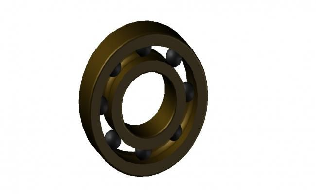 3D Ball Bearing CAD Model