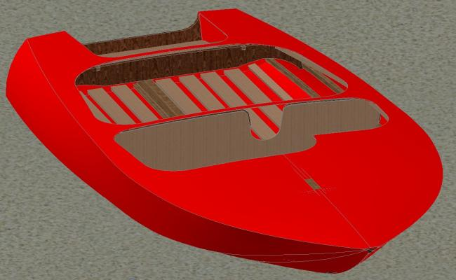 Speed boat CAD drawing