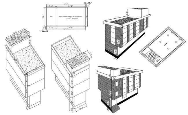 3D Building Design DWG File