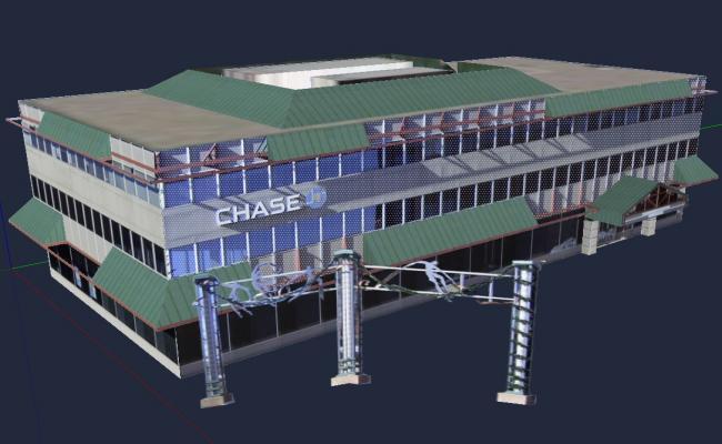 3D Building Design SKP File