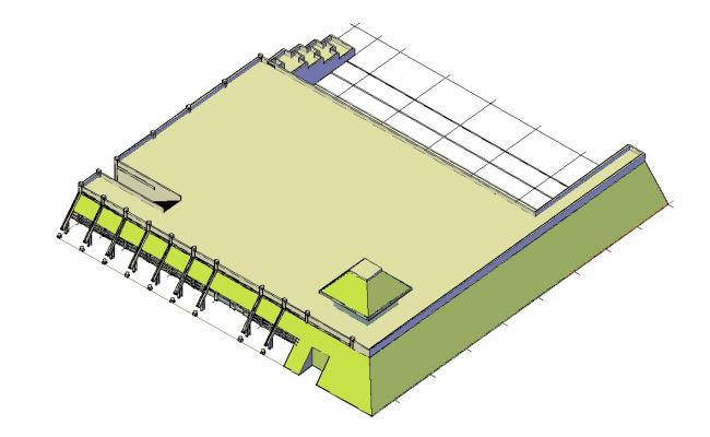 3D Building Drawing AutoCAD File