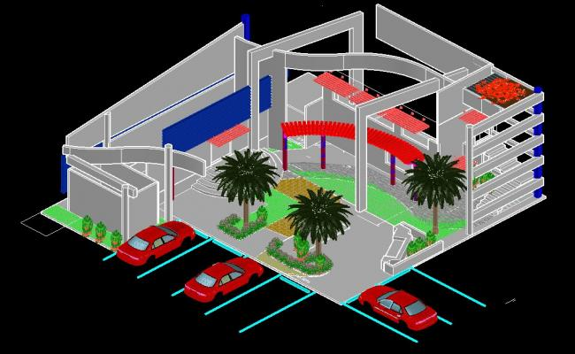 3D Building Drawing Free AutoCAD Drawings