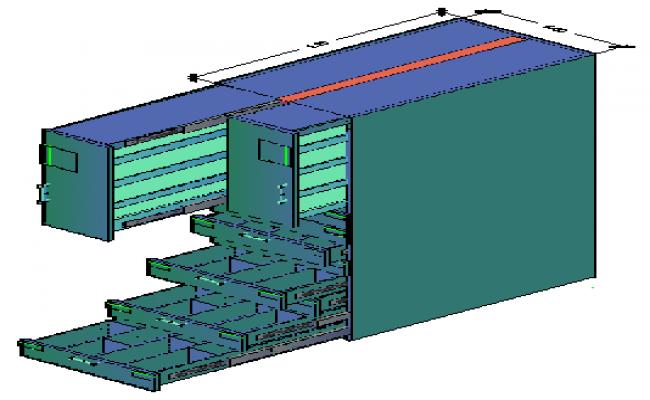 3D Drug store furniture design drawing