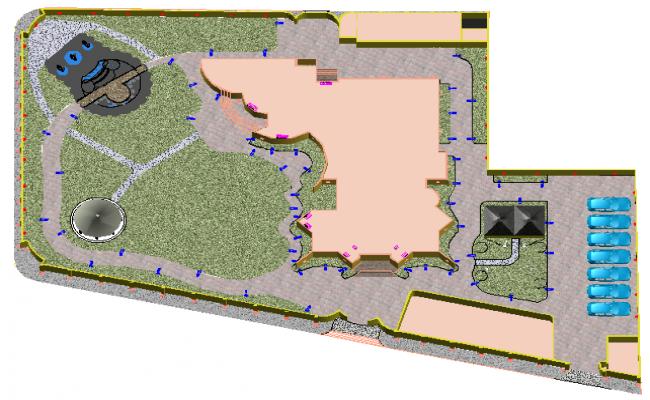 3D Exterior plot layout dwg file