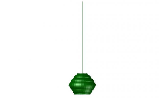 3D Hanging Lamp AutoCAD File