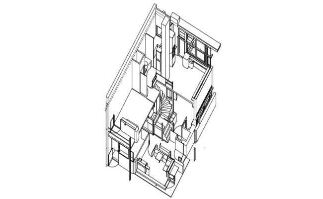 3D House Interior Design Drawing AutoCAD File Free