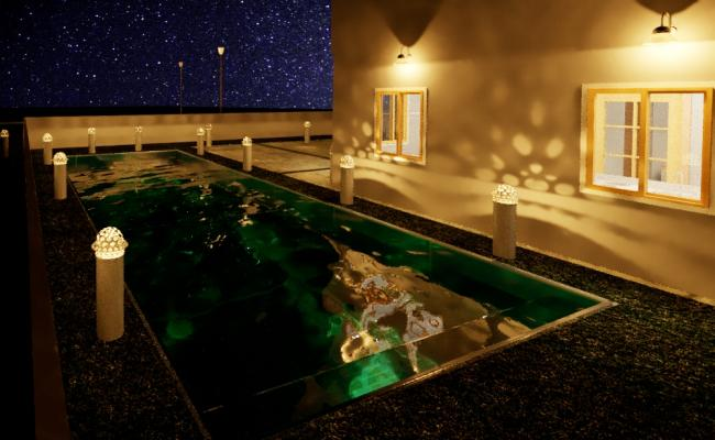 3D House with Swimming Pool