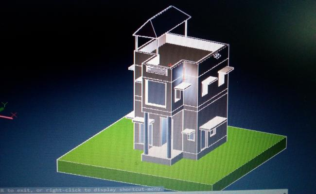 3D Indian House Plan