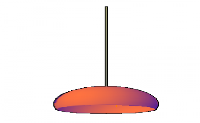 3D Lamp with applied materials design drawing